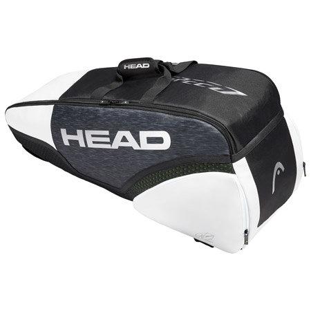 Bílo-černá tenisová taška Djokovic 6R, Head