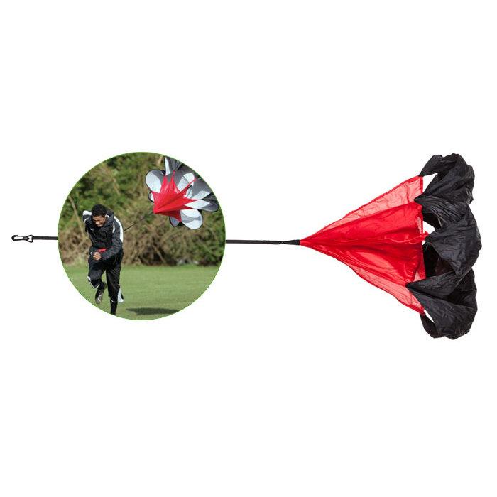 Tréninkový brzdící padák - Tréninkový padák inSPORTline CF110 100x85 cm