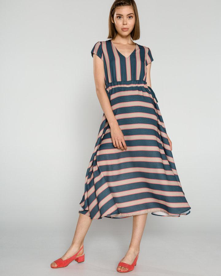 Béžovo-modré dámské šaty Fracomina - velikost M