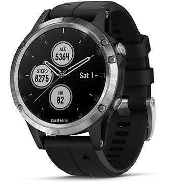 Černé chytré hodinky Fenix 5 Plus, Garmin