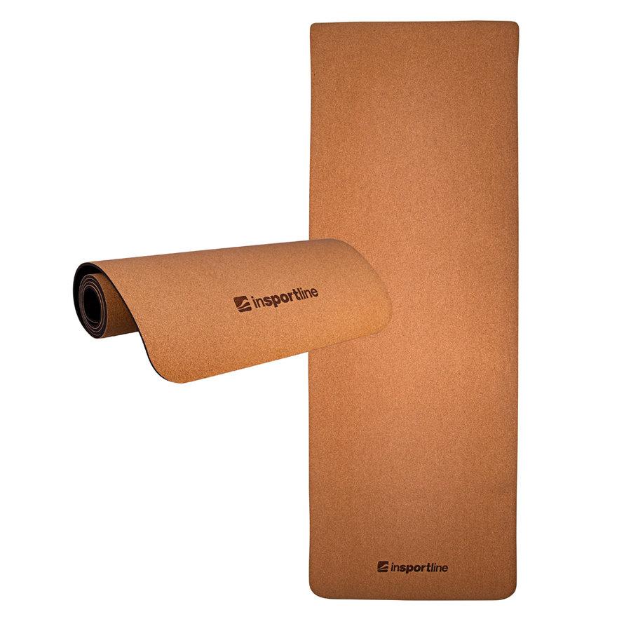 Oranžová podložka na jógu inSPORTline - délka 173 cm a tloušťka 0,6 cm