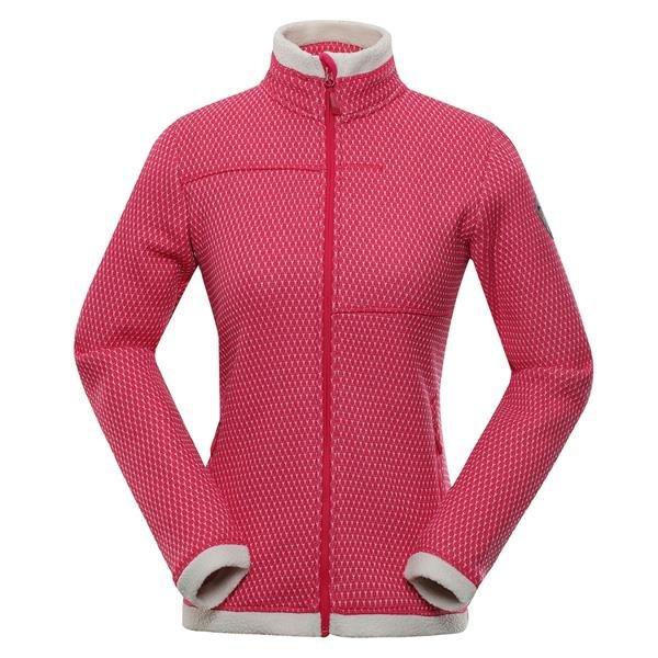 Růžový dámský turistický svetr Alpine Pro
