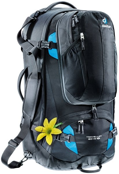 Batoh - Deuter Traveller 60 + 10 SL Black-turquoise