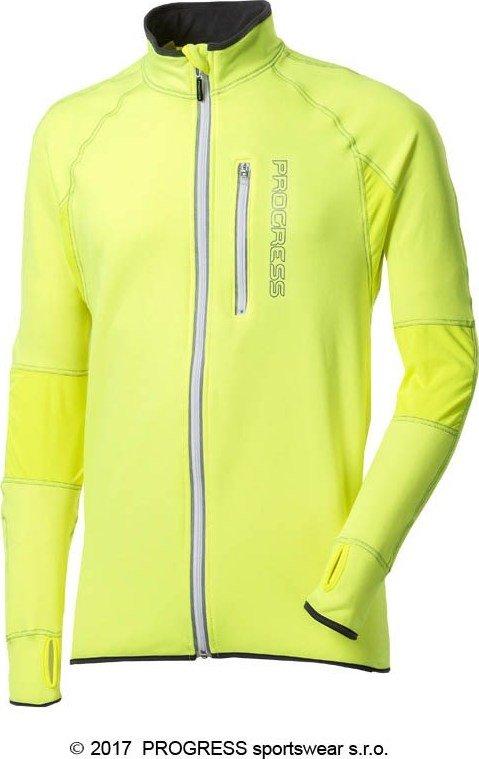 Žlutá pánská běžecká mikina Progress