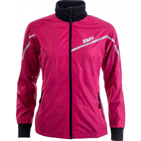 Růžová dámská bunda na běžky Swix - velikost XS