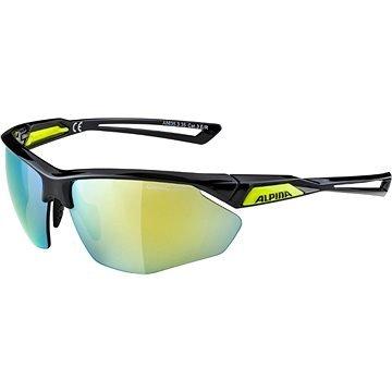 Černo-žluté cyklistické brýle Alpina