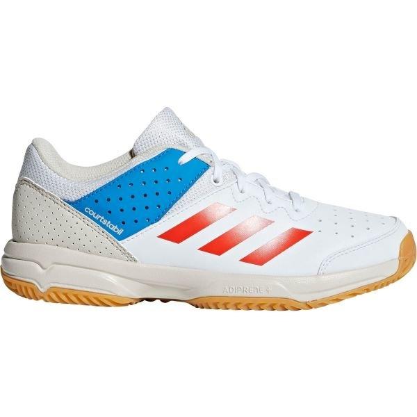 Bílo-modré dětské boty na házenou Adidas