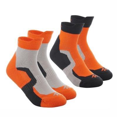 Oranžové unisex ponožky Quechua - velikost 31-34 EU - 2 ks