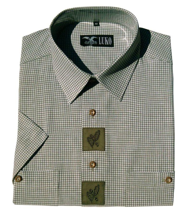 Zelená pánská lovecká košile s krátkým rukávem Luko