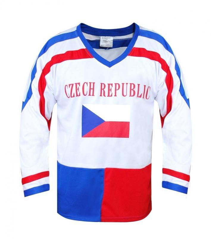 Bílý hokejový dres SportTeam - velikost L