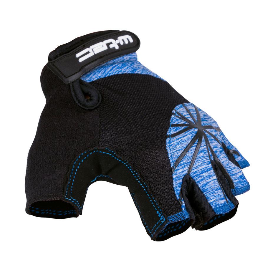 Černo-modré dámské cyklistické rukavice Klarity AMC-1039-17, W-TEC