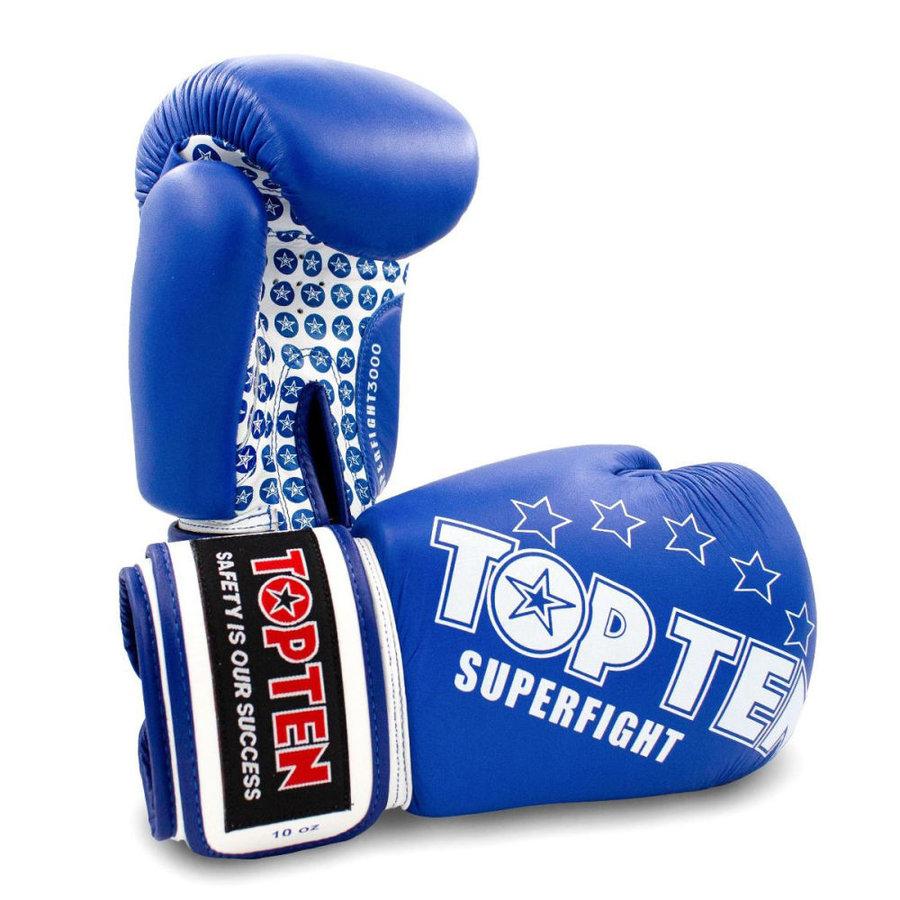 Modré boxerské rukavice Top Ten - velikost 10 oz