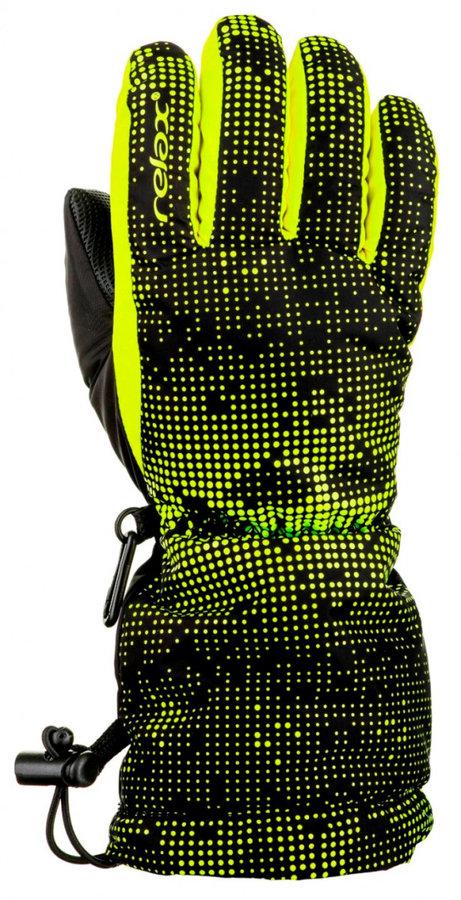 Černo-žluté dětské lyžařské rukavice Relax