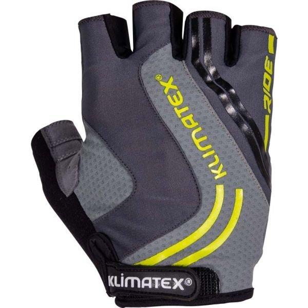 Šedé pánské cyklistické rukavice Klimatex