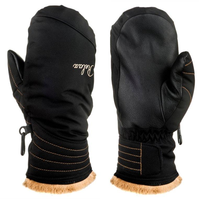 Černé dámské lyžařské rukavice Relax