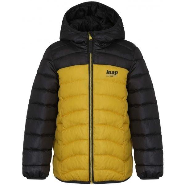 Černo-žlutá dětská bunda Loap