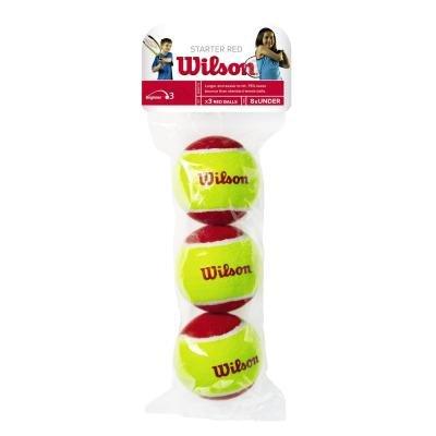 Červený tenisový míček Wilson - 3 ks