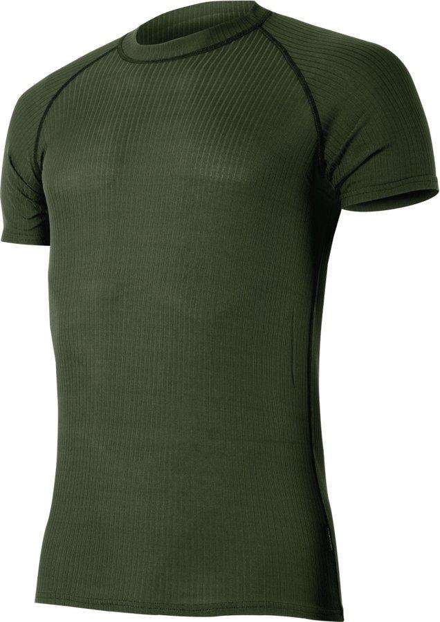 Zelené pánské funkční tričko s krátkým rukávem Lasting - velikost M