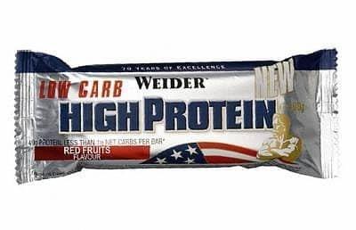 Proteinová tyčinka - High Protein Low Carb Bar - Weider 50g - oříšek/karamel