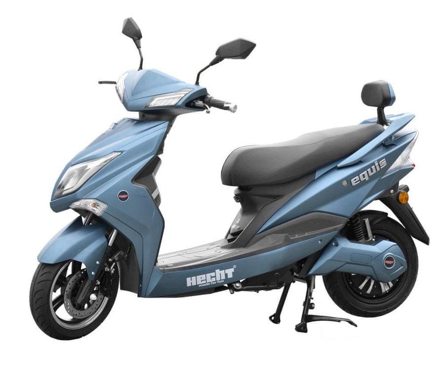 Modrá elektrická motorka EQUIS, HECHT
