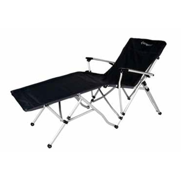 Kempingová židle - Camping skládací židle - lehátko s opěrkou nohou - 2. jakost