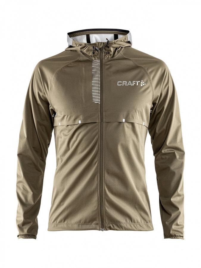 Zelená pánská běžecká bunda s kapucí Repel, Craft - velikost L
