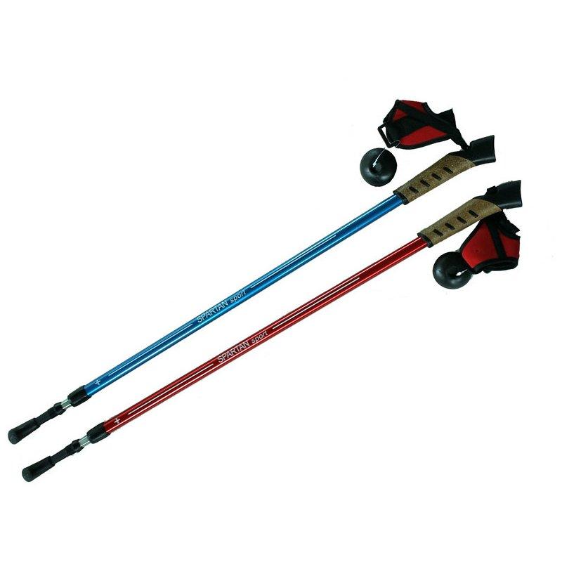Modrá trekingová hůl NORDIC WALKING, SPARTAN SPORT - délka 130 cm