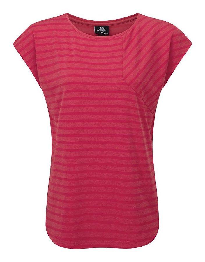 Růžové dámské turistické tričko s krátkým rukávem Mountain Equipment
