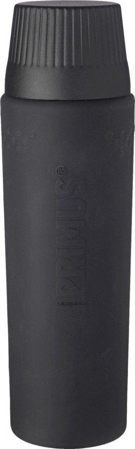 Černá termoska na pití Primus - objem 1 l
