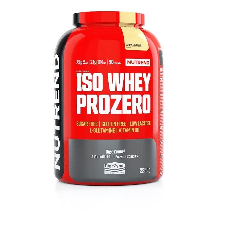 Protein - Práškový koncentrát Nutrend ISO WHEY Prozero 2250 g pudinková vanilka