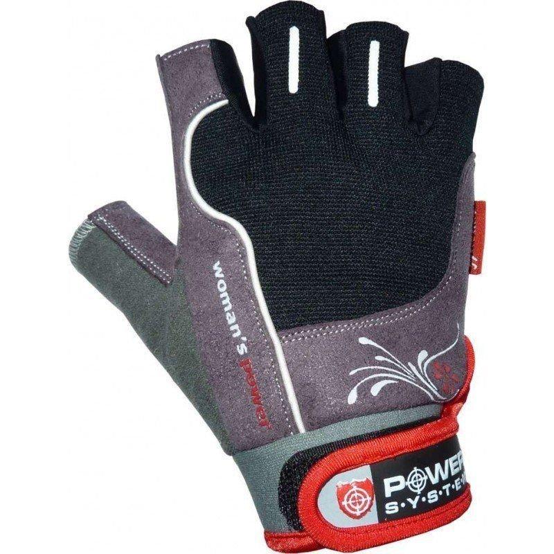 Černo-šedé dámské fitness rukavice Power System