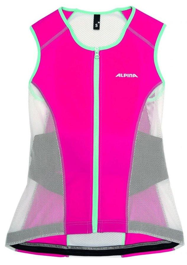 Bílo-růžový dámský chránič páteře na lyže Alpina Sports