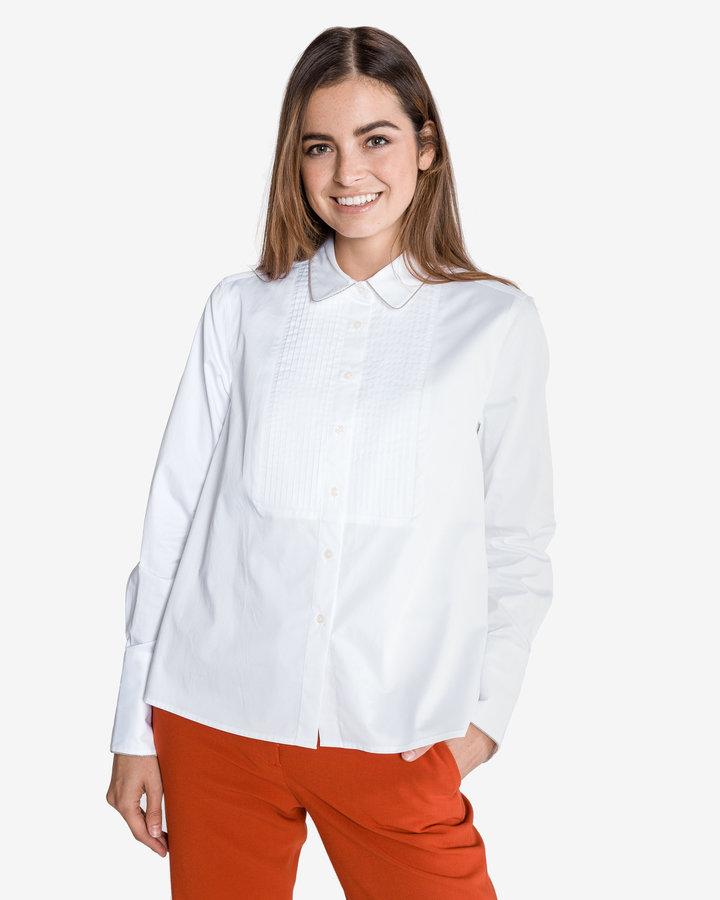 Bílá dámská košile s dlouhým rukávem Tommy Hilfiger - velikost S