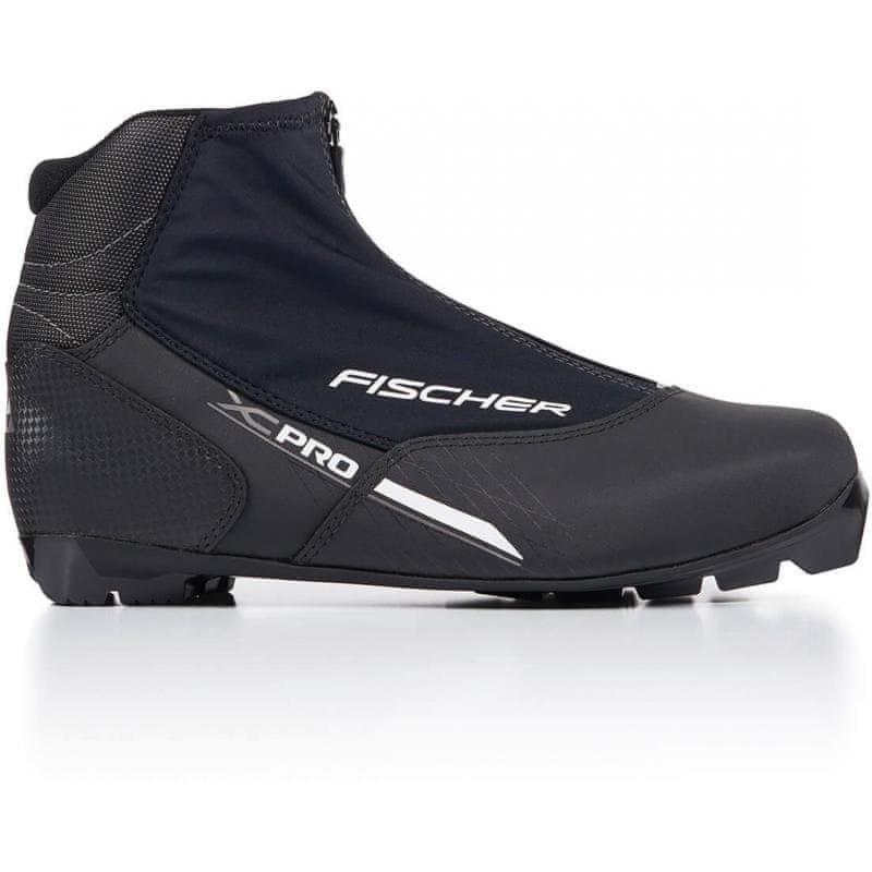 Černé pánské boty na běžky NNN Fischer