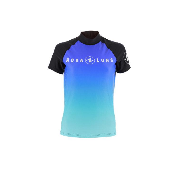 Modré dámské lycrové triko s krátkým rukávem Frozen blue, Aqualung - velikost L