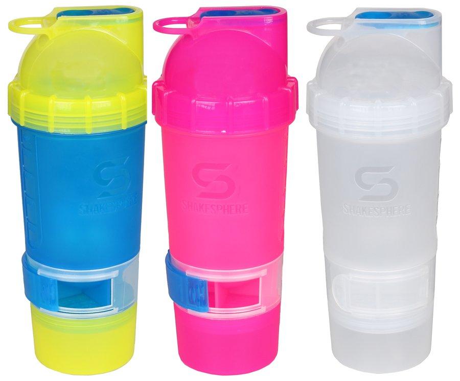 Bílý shaker ShakeSphere - objem 700 ml