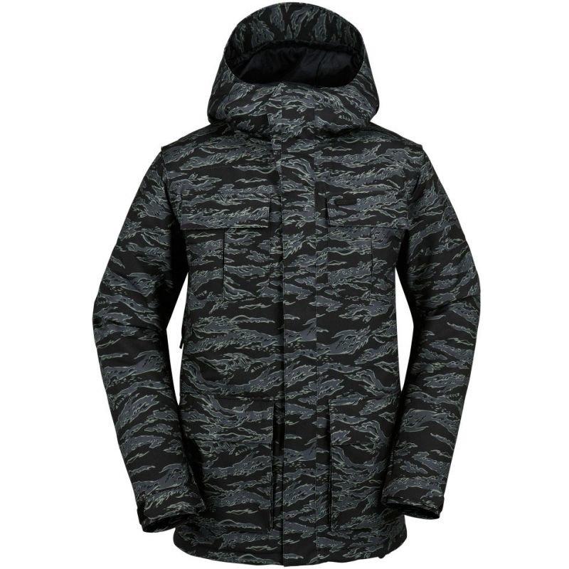 Černo-šedá pánská snowboardová bunda Volcom - velikost L