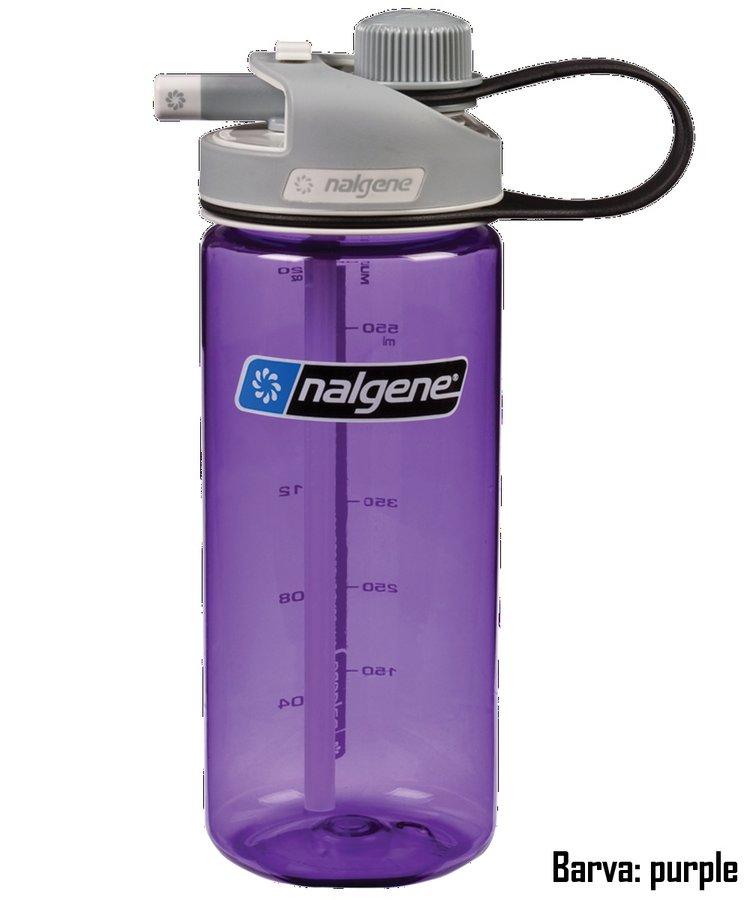 Fialová láhev na pití MultiDrink, Nalgene - objem 0,6 l