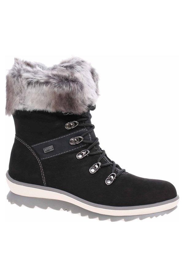 Černé dámské kotníkové boty Remonte - velikost 38 EU