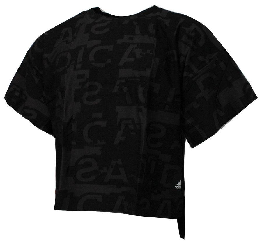 Černé dámské tričko s krátkým rukávem Adidas