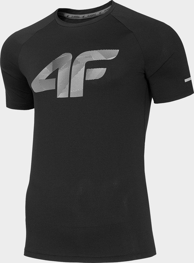 Černé pánské funkční tričko s krátkým rukávem 4F - velikost M