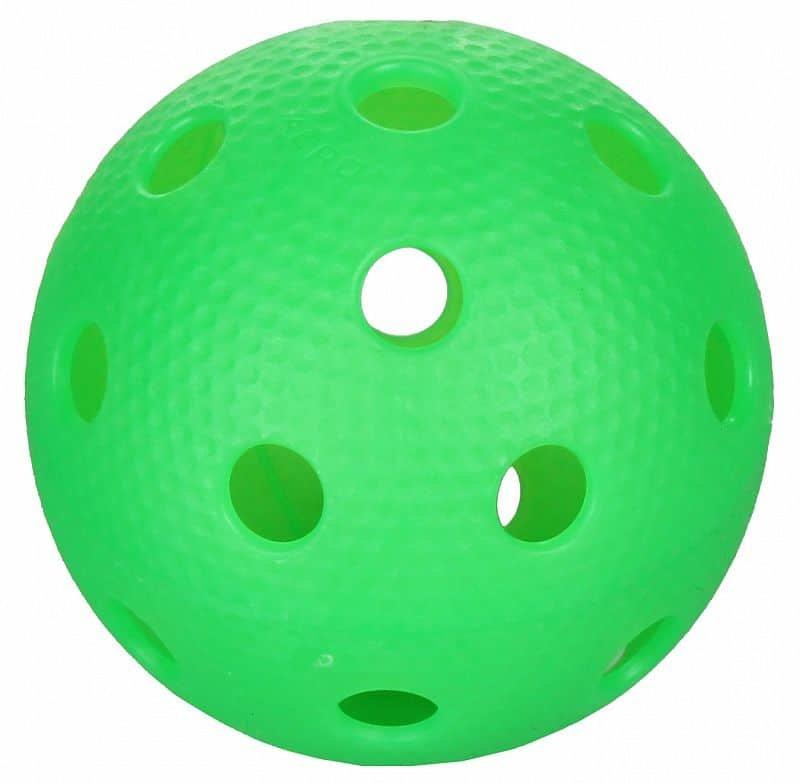 Bílý florbalový míček Salming