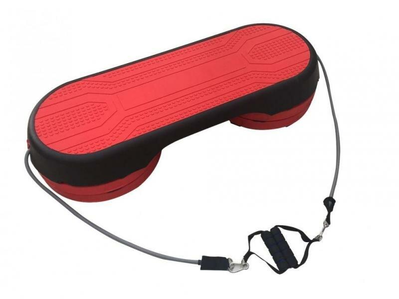 Černo-červený aerobic step Sedco