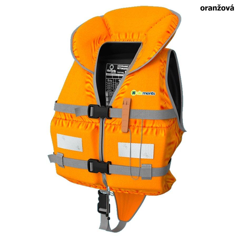 Oranžová dětská dívčí nebo chlapecká záchranná vesta Baby, ELEMENTS GEAR - velikost S