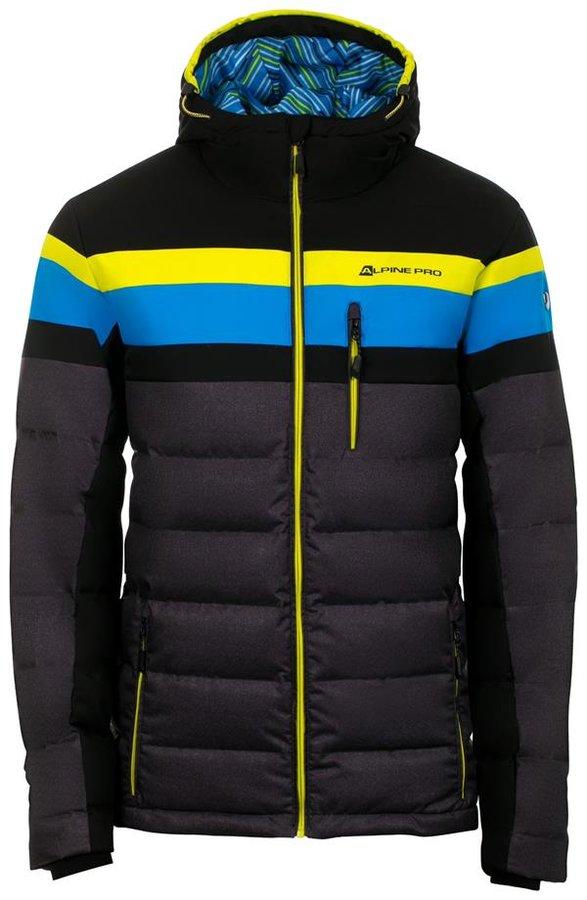 Černo-modrá pánská bunda Alpine Pro - velikost L