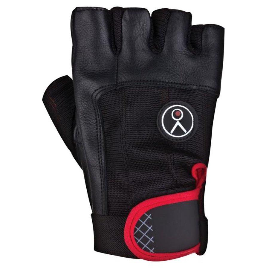 Černo-červené fitness rukavice Spokey