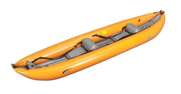 Oranžový nafukovací kajak pro 2 osoby K2, Gumotex