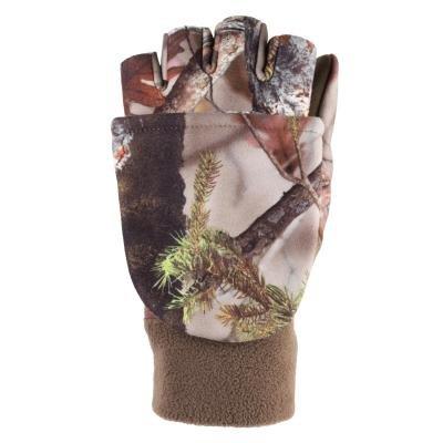 Khaki lovecké rukavice Solognac