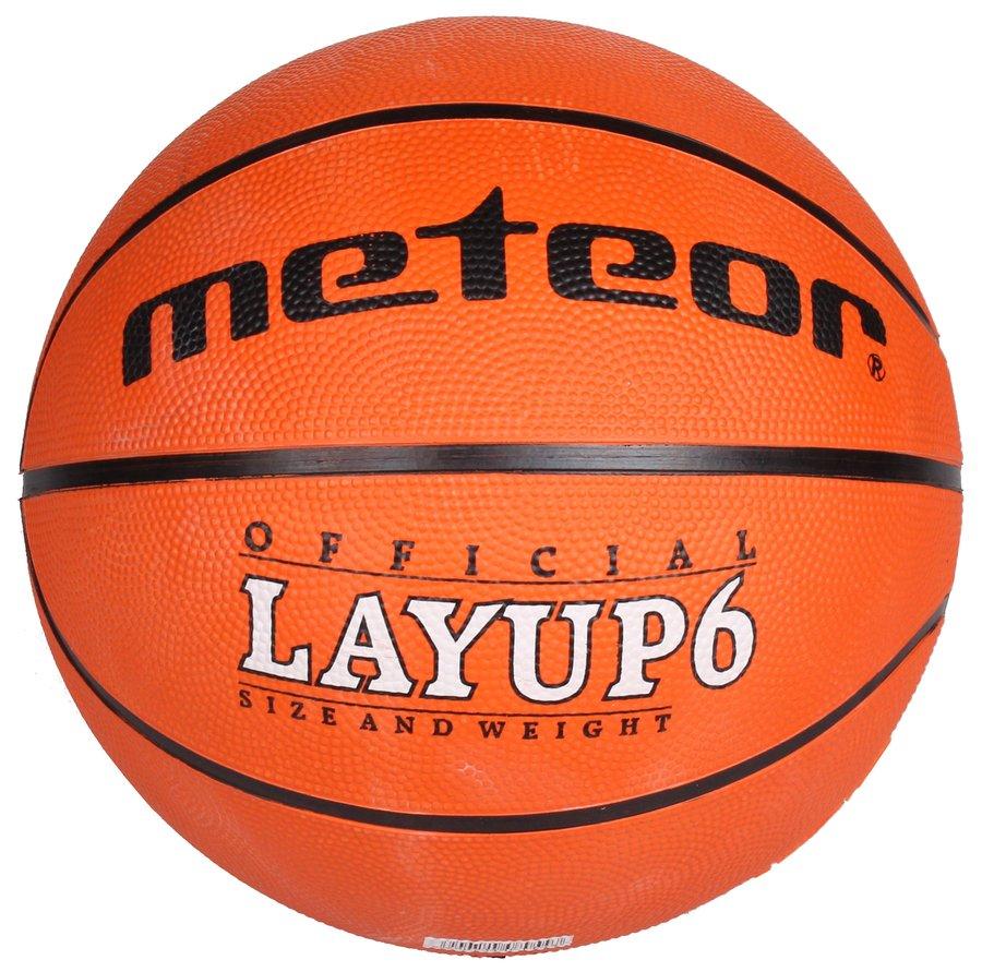 Oranžový basketbalový míč Layup, Meteor - velikost 5