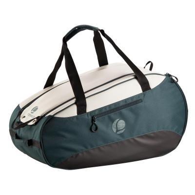 Bílo-zelená tenisová taška Artengo